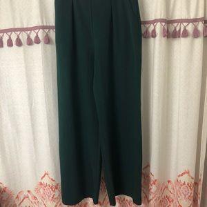 NWT ASOS wide leg emerald green pants